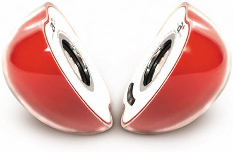Apple shaped speakers