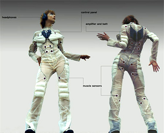 Pacer Suit, a musical suit that creates music out of your own body movement.