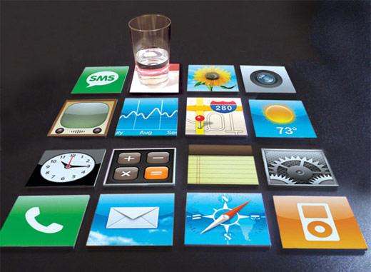 Menino iPhone coasters