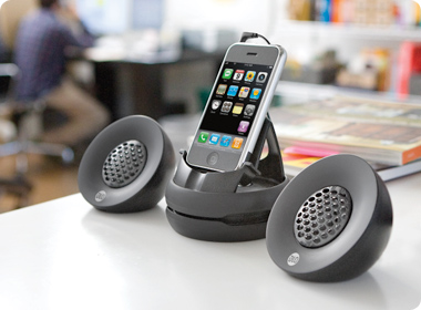 Introducing the DLO Portable Speakers for iPhone, with stereo sound without any digital interference.  These awesome iPhone accessories is available in DLO as well as your nearest cellphone accessories store.