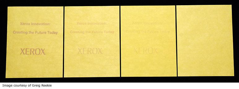 Xerox Experimental Paper
