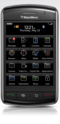 The BlackBerry Storm is touted as the iPhone Killer, with its touch-screen navigation, multi-tasking features, and global adaptability.
