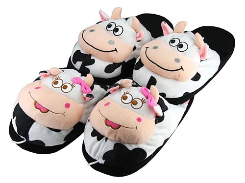 Cow USB Heated Slippers