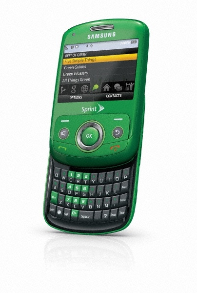 Samsung Reclaim from Sprint, the eco-friendly mobile phone made from corn