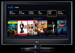 LG HDTV With VUDU