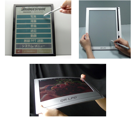 Bridgestone flexible e-paper display