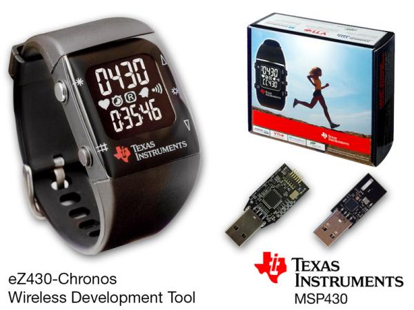 Texas Instruments Development Platform in a Sports Watch, the eZ430-Chronos