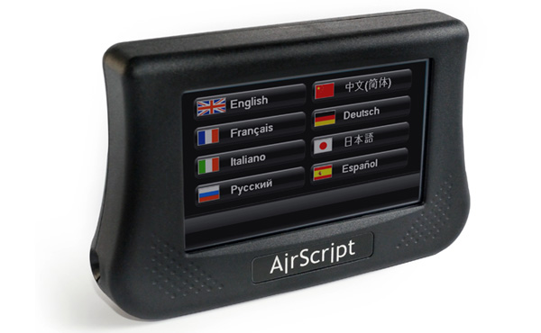 Airscript closed-caption device for live theater productions