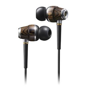 JVC wooden earphones