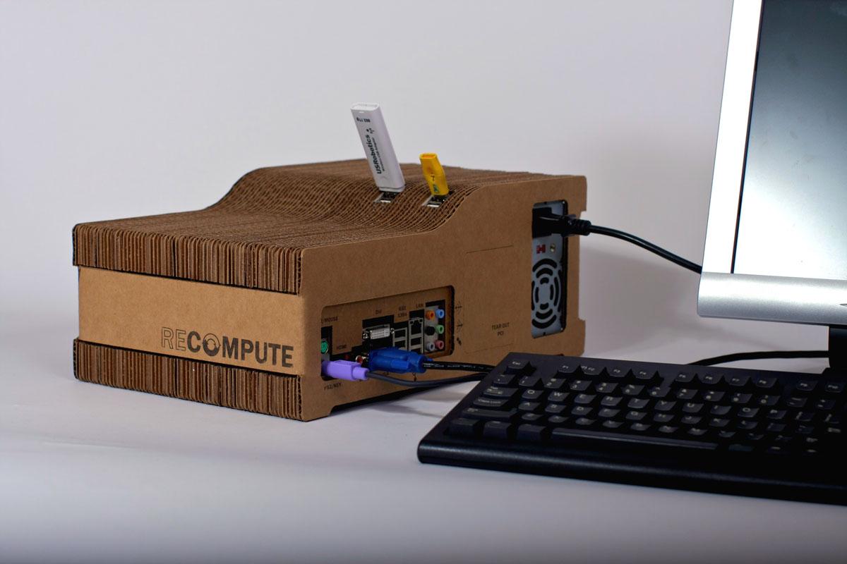 Recompute Cardboard Desktop Computer