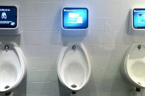 Toylet Urinal Gaming System by Sega Comes to Japan