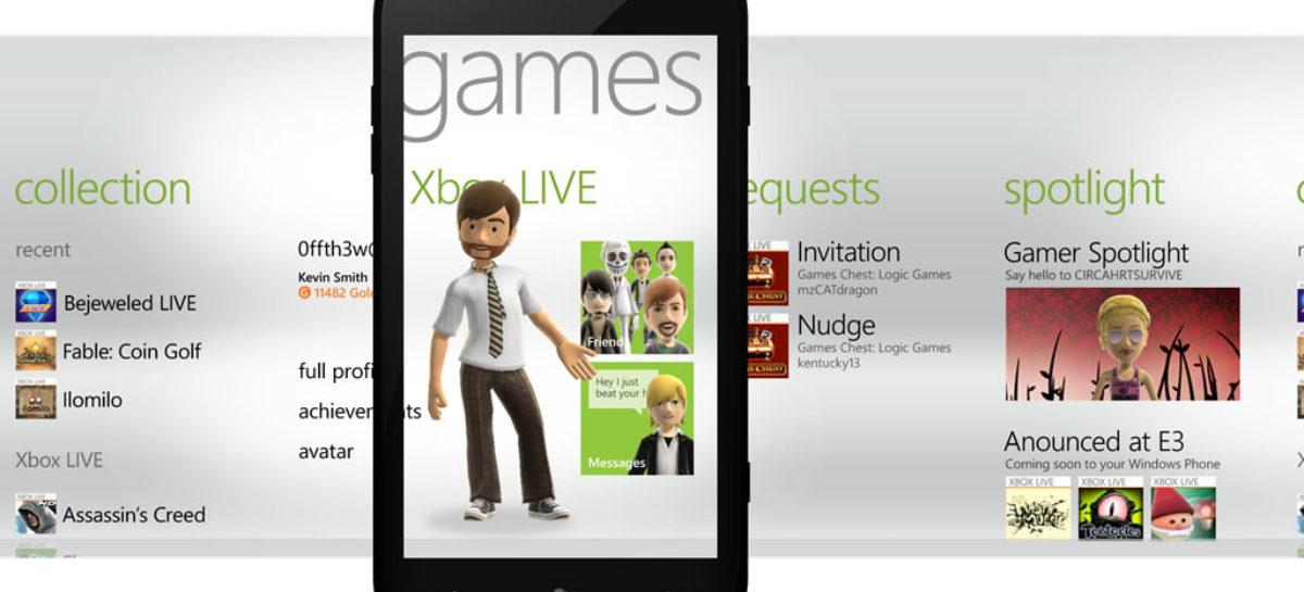 Developments on Windows Phone Mango's Games Hub Revealed