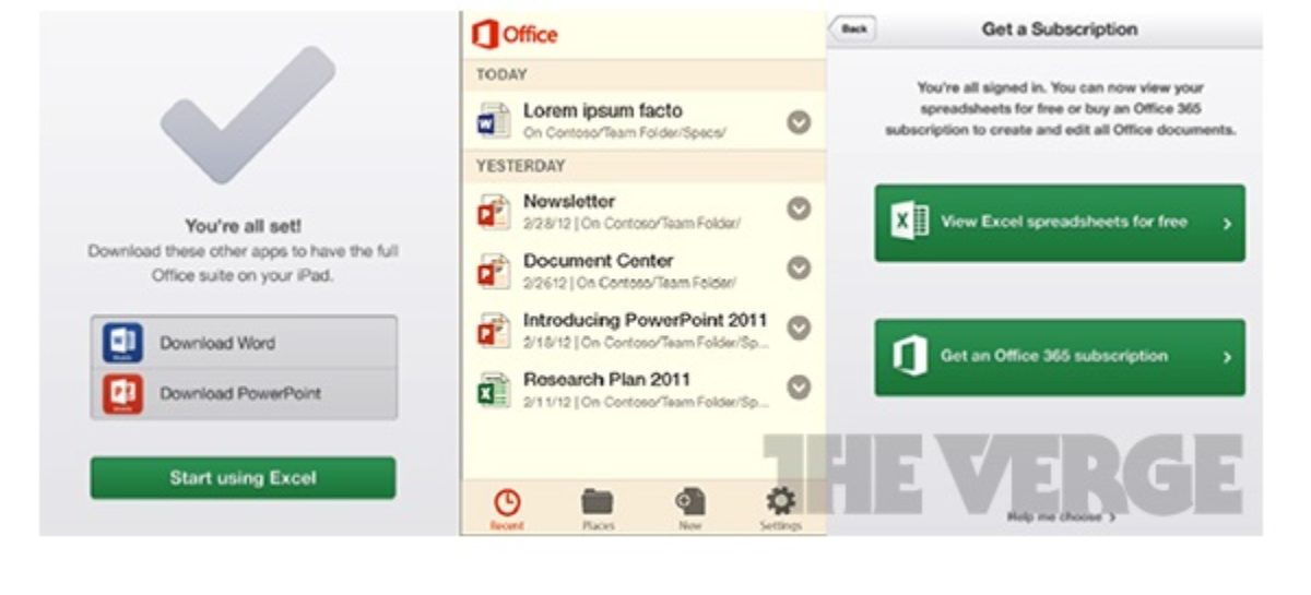Microsoft Office for Android and iOS Leaked