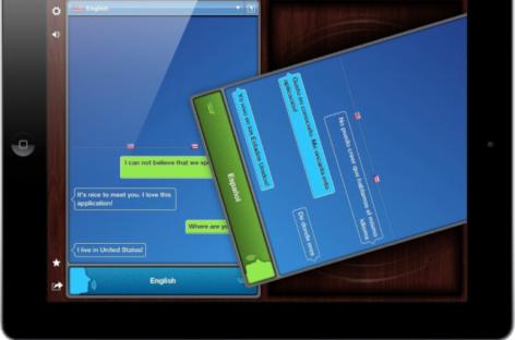 TableTop Translator iPad App