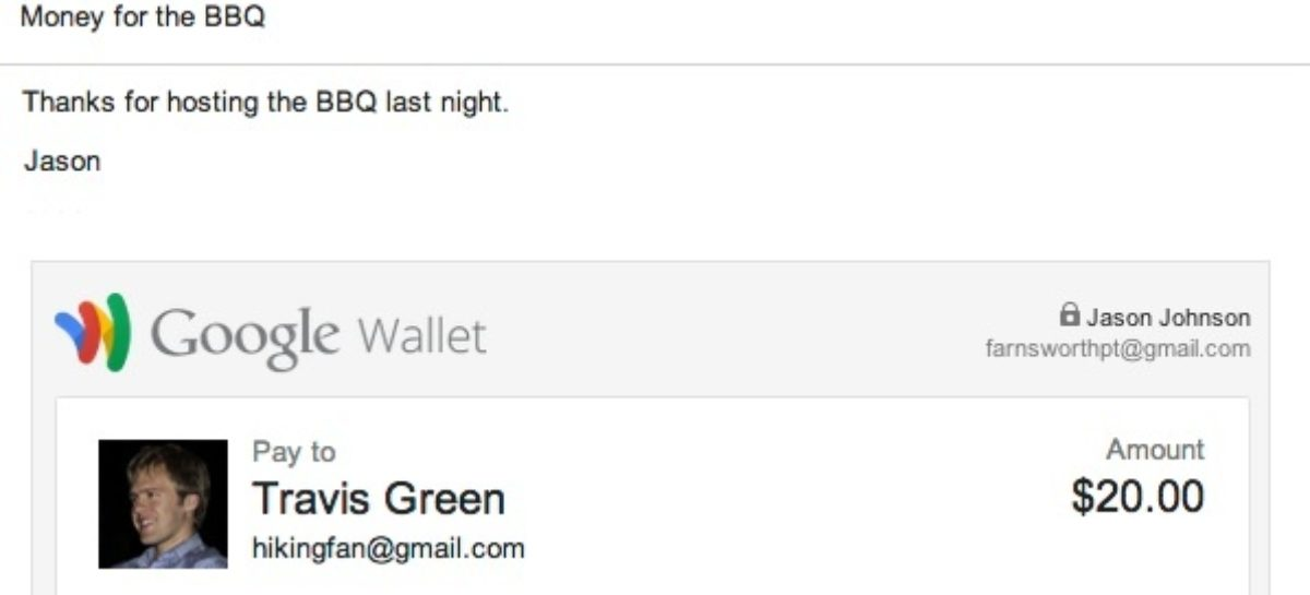 Google Wallet Introduces Money Transfers via Gmail