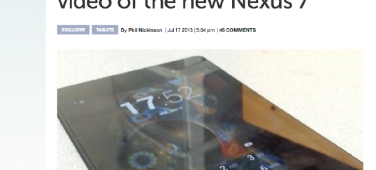 Photos of Google Nexus 7 Successor Leaked