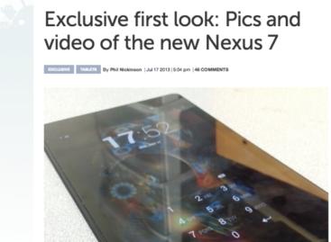 Photos of Google Nexus 7 Successor Leaked