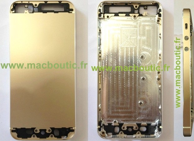 Gold-colored iPhone 5S shell