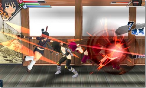 Senran Kagura Burst gameplay