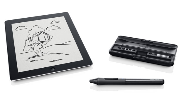 Wacom Intuos Creative Stylus, together with the new Bamboo Paper app
