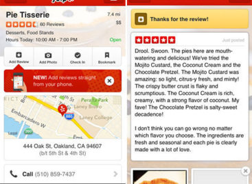 Yelp mobile app now allows users to post reviews
