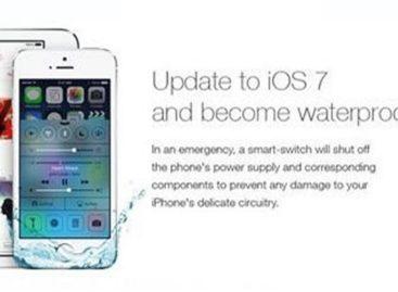 Fake iOS 7 ad claims update makes iPhones waterproof