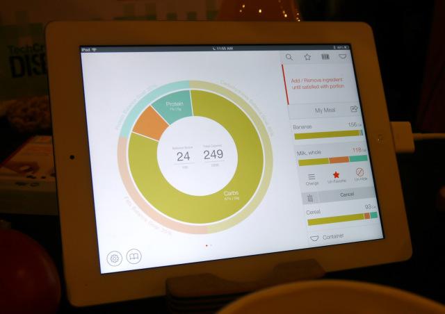 Countertop nutrional value measurement app, a companion app for Prep Pad,