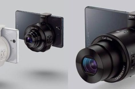 Sony QX10 and QX100 camera lenses for smartphones