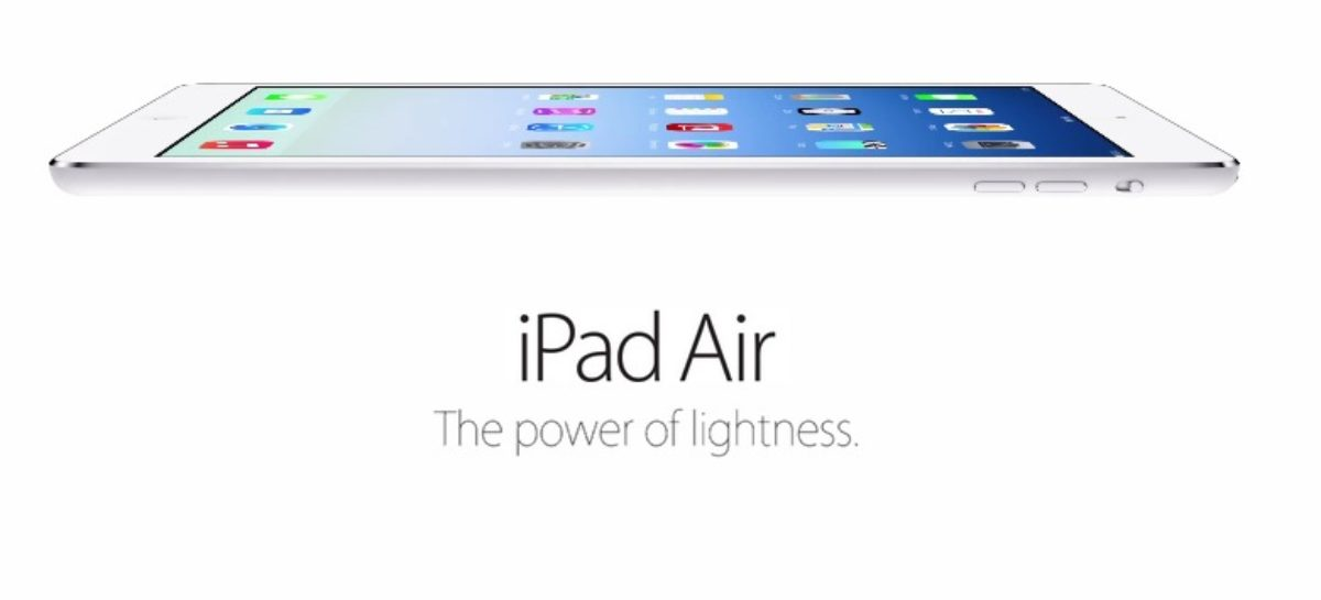 iPad Air: Ready For Work And Play On November 1