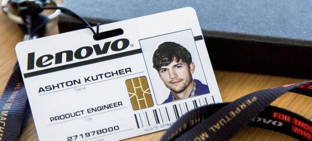 Ashton Kutcher becomes Lenovo employee