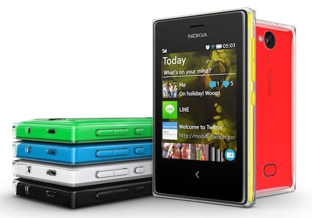 Nokia Asha 500, Nokia Asha 502, and Nokia Asha 503