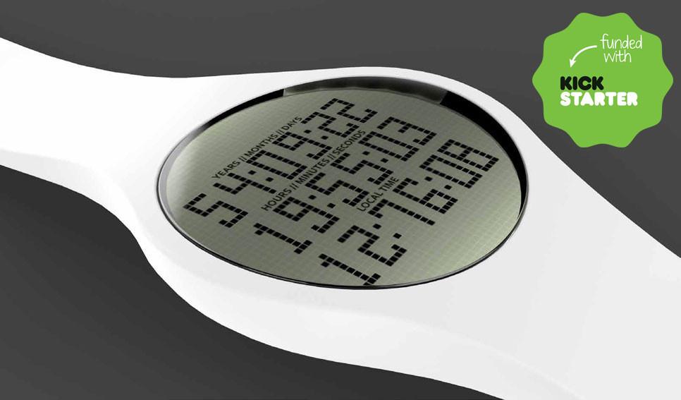 Tikker wristwatch with life countdown
