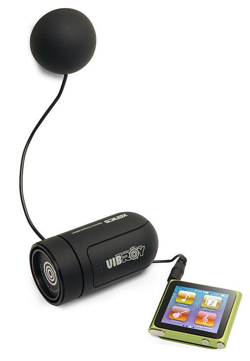 Vibroy portable vibration speaker