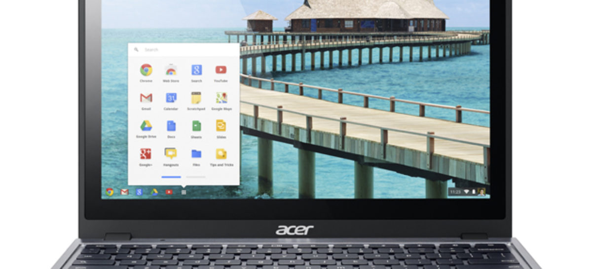 Acer C720P Chromebook comes with touch screen