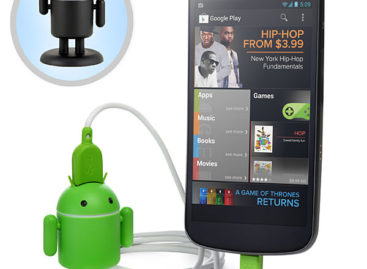 Andru: Android robot smartphone charger