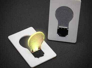Credit Card Lightbulb: Convenient emergency lamp