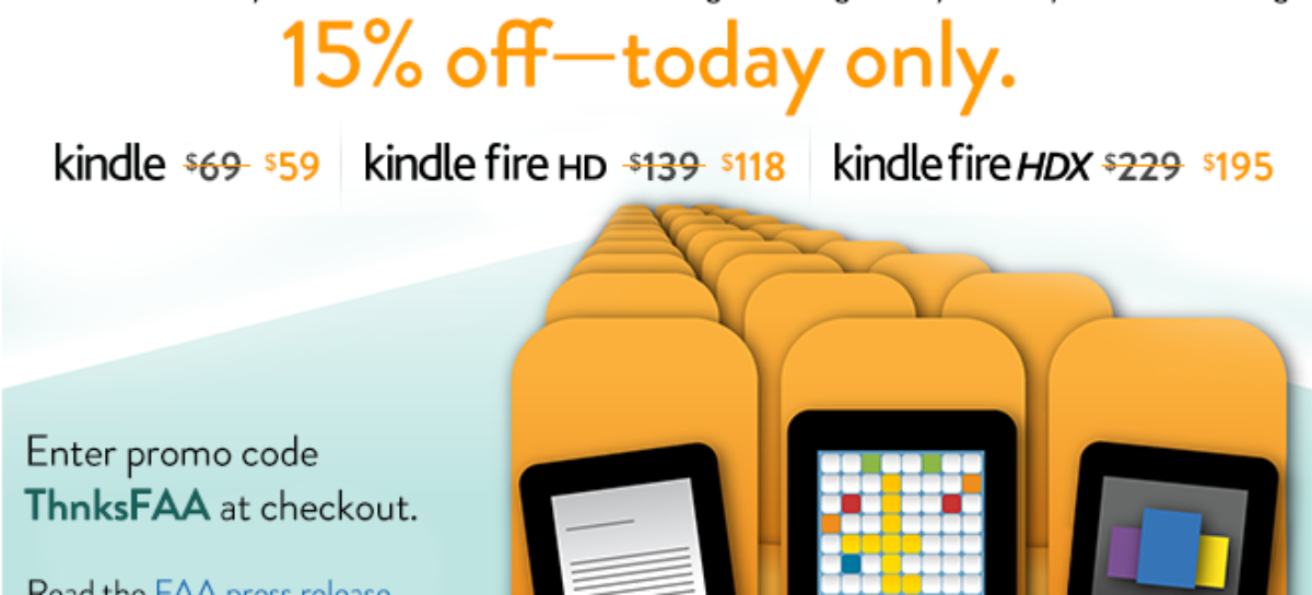 Amazon celebrates FAA decision with Kindle discounts