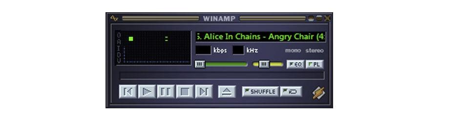 Winamp media player