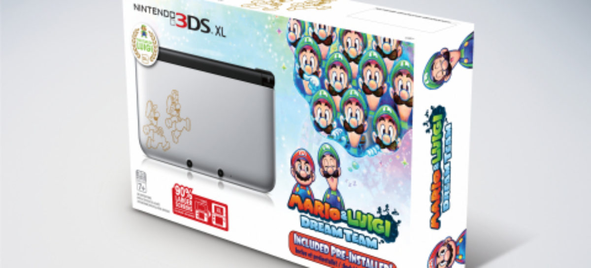 Limited-edition Nintendo 3DS XL features Mario and Luigi