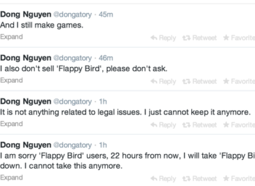10 questions about Flappy Bird's pullout