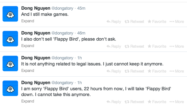 Flappy Bird pulls out of App Store