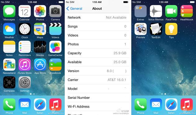 iOS 8 leaked