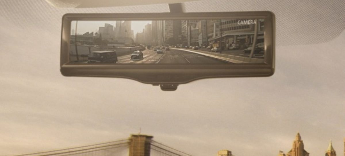 Nissan smart rearview mirror switches to back-up camera