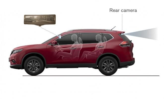 Nissan smart rearview mirror