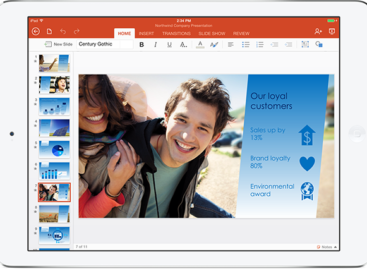Microsoft introduces Office for iPad