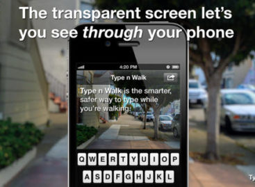 "Apple's ""transparent texting"" lets you walk-and-text"
