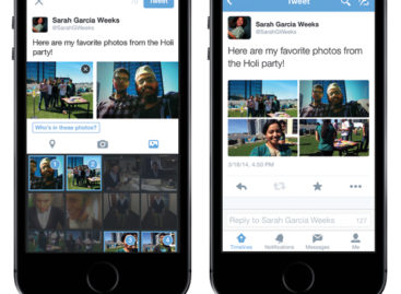 Twitter allows multiple photo uploads, tag with friends