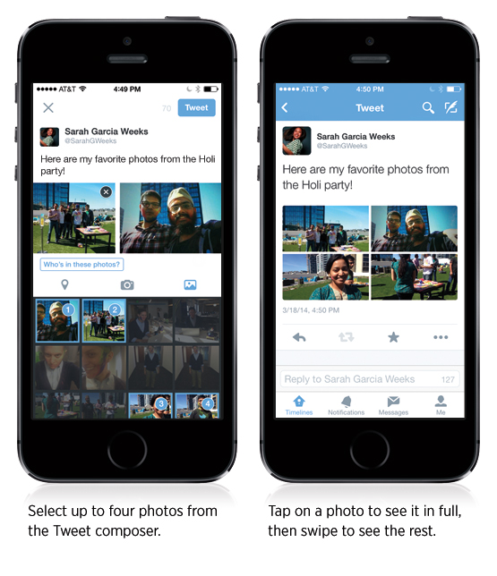 Twitter now allows multiple photo upload