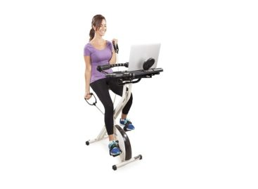FitDesk FDX 2.0 Desk Exercise Bike with Massage Bar