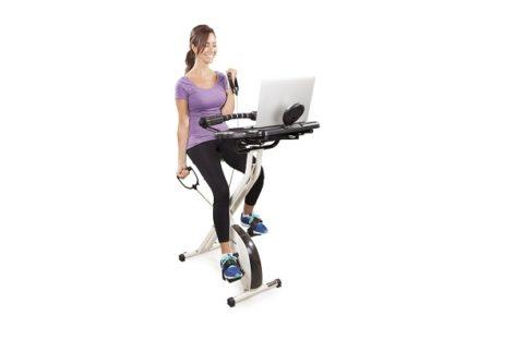 FitDesk FDX 2.0 Desk Exercise Bike with Massage Bar